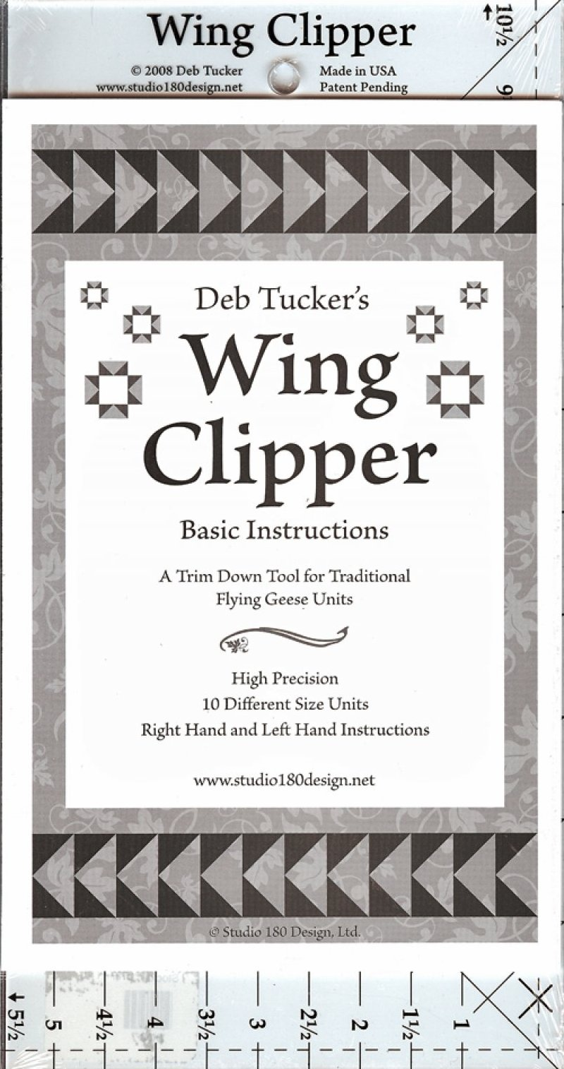 Wing Clipper Trim Down Tool for Traditional Flying Geese Units.
