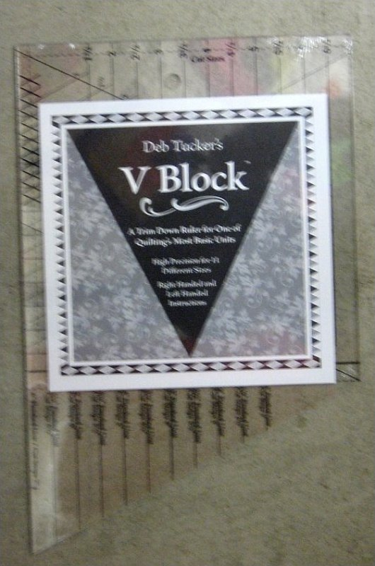 Deb Tucker's V Block Trim Down Ruler