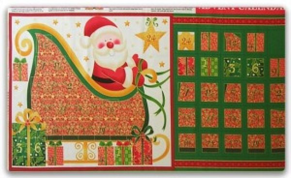 Christmas Advent Panel - Santa (110387)
