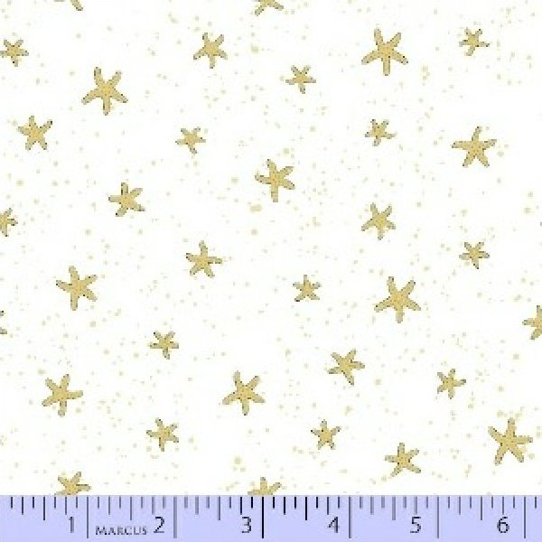 By The Sea Stars - gold/white (120311)