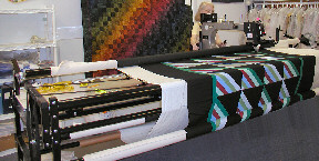One of our Gammil Long arm quilting machines at work