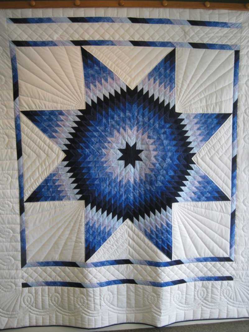 Quilt Pattern Radiant Star : Lone Star - Hand Quilted by Amish stitchers SOLD!