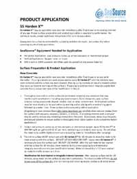 SS Harden X Concrete Hardener Application Instructions