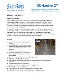 SS Harden X Concrete Hardener Product Data Sheet