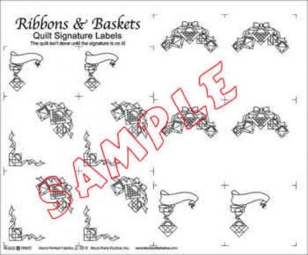 Label Panel - Quilt Signature Labels - Ribbons & Baskets