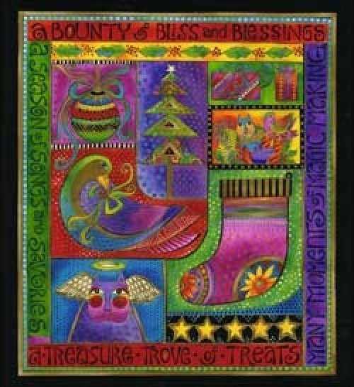 Clothworks - Laurel Burch - Bountiful Blessings - Panel - 90351-1