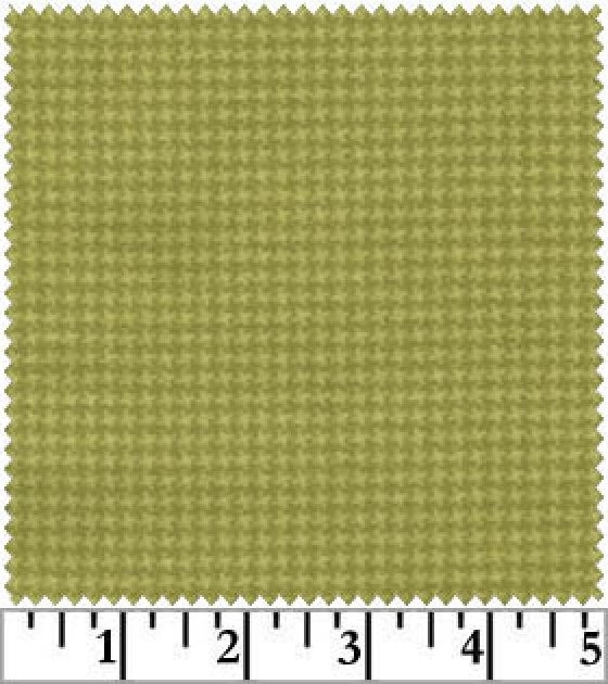 Woolies Flannel Tiny Houndstooth Green