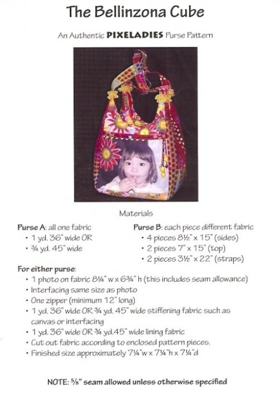 The Bellinzona Cube Purse Pattern by Pixeladies