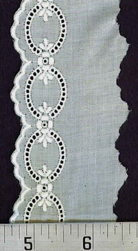 Cotton Lace Scalloped Edge - Ecru