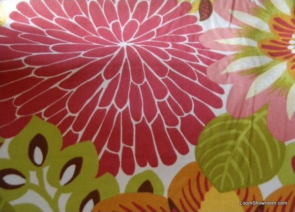 Shabby chic style french country linen fabric drapery fabric cv100 os - Hd351 Dahlia Big Bold Floral Contemporary Scandinavian