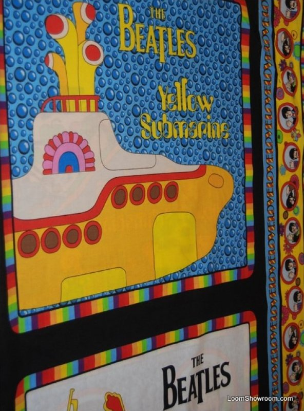 Kitchen island yellow - 163 Beatles Yellow Submarine Pillow Panels 4 Image Panel