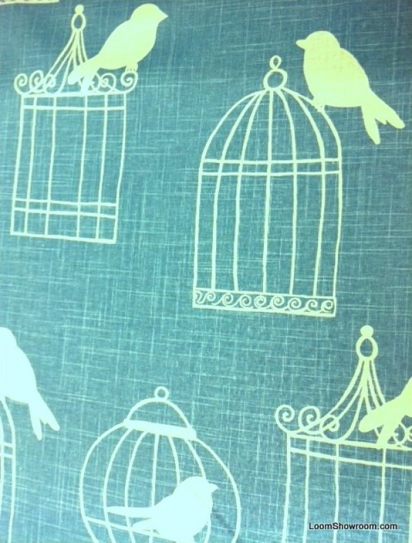 black birdcage navy linen wedding platinum swirl scroll wedding dress