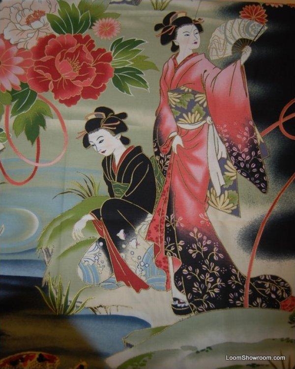 Geisha Japan Theatre Japanese Asian Serenity Koi Fish