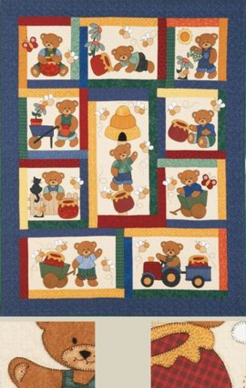Honey Bears by Kids Quilts Ltd