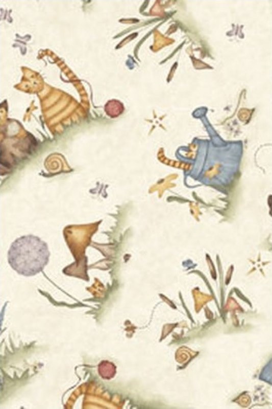 Tale of 2 Kitties by Red Rooster Fabrics