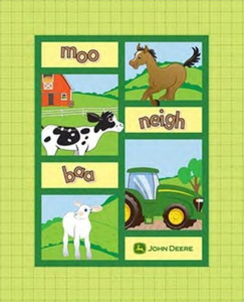 JD Farm Animal Patch Quilt Top Panel #327390