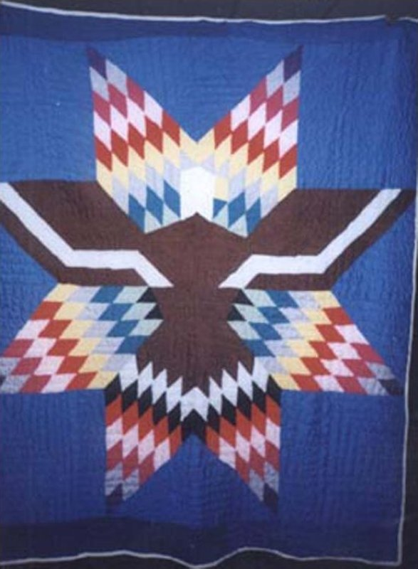 CHEROKEE EAGLE AND STAR VINTAGE QUILT