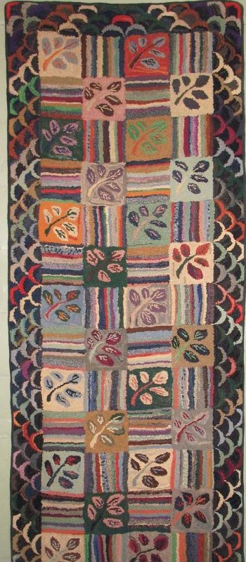 MELTZER, JUNIPER HILL ANTIQUE HOOKED RUG, Pennsylvania artist
