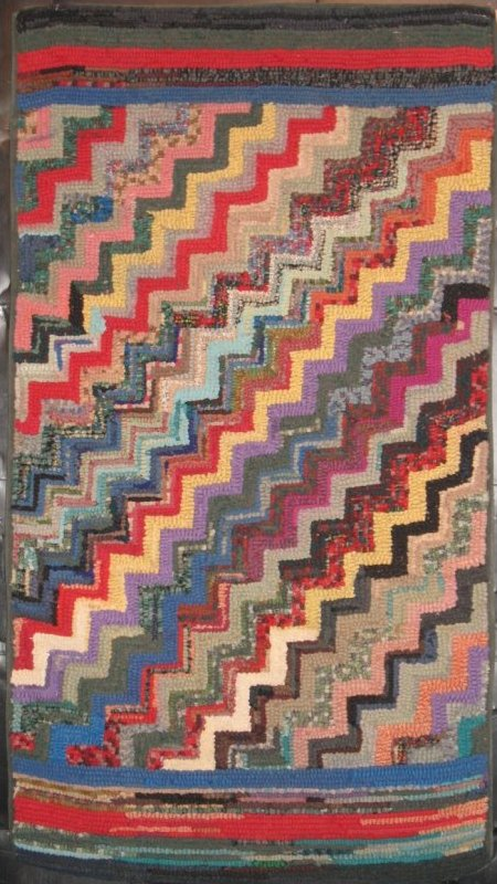 STREAK OF LIGHTNING ANTIQUE HOOKED RUG