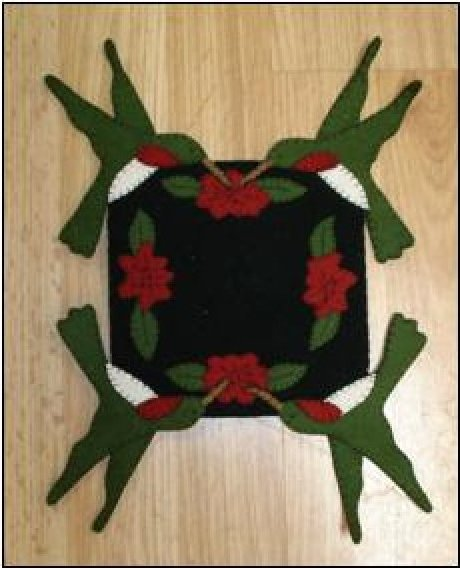Hummingbird Candle Mat
