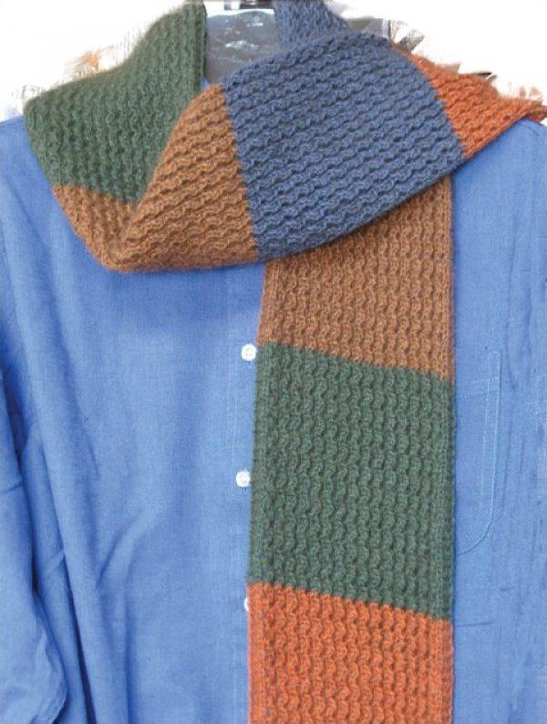 Knit Zig Zag Rib Stitch : Zig zag rib color block scarf