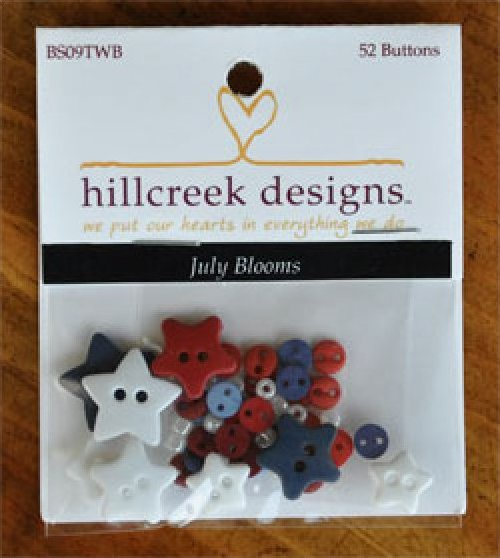 July Blooms Button Pack