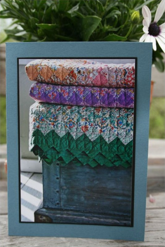 Handmade Photo Card ~ Antique Quilt #2