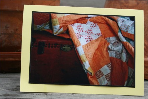 Handmade Photo Card ~ Antique Quilt #3