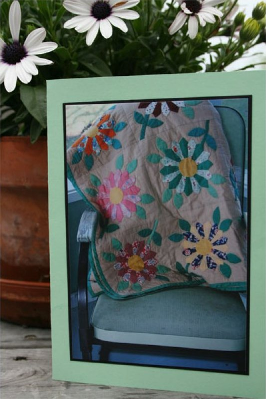 Handmade Photo Card ~ Antique Quilt #5