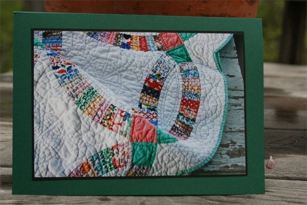 Handmade Photo Card ~ Antique Quilt #6