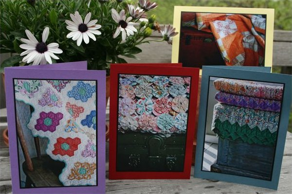 Handmade Photo Card ~ Antique Quilt 4-Pack