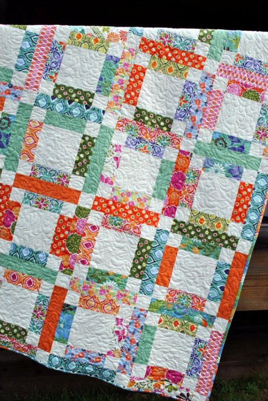 QUILT PATTERN from Sweet Jane ....One Jelly Roll, EASY and Quick, Grandma Mary's Five Patch