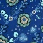 Clothworks Sapphire Collection - Medium Blue Large Flower