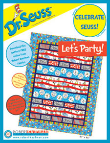 Suess Let's Party Quilt Instructions