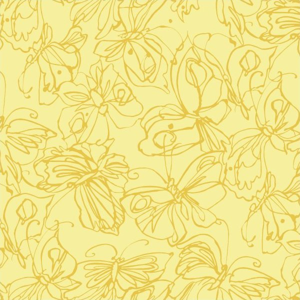 Yellow Cloth Texture Calypso- Yellow Butterfly