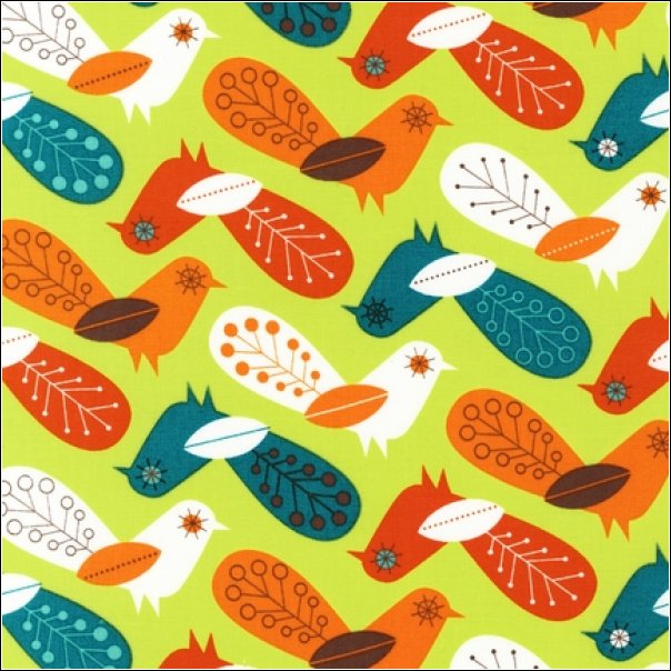 Critter Community Retro Birds Lime