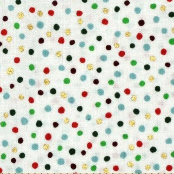 Alexander Henry - Christmas Time Holiday Dot - Natural - Metallic
