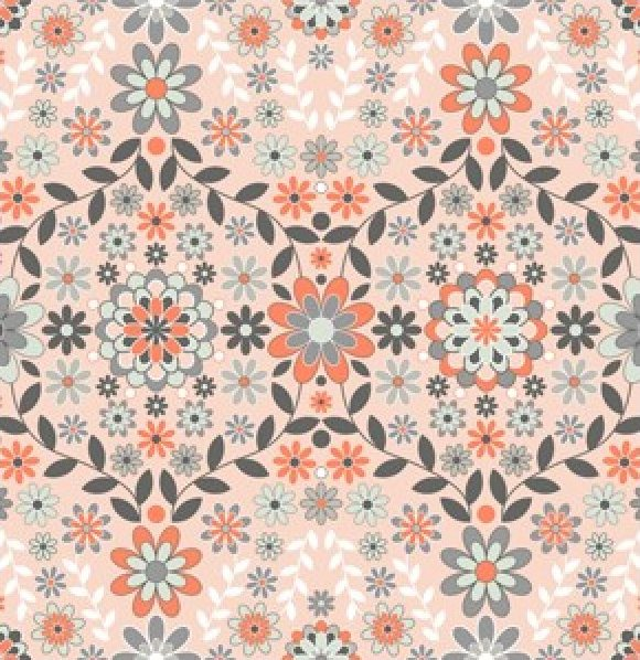 Jenean Morrison Silent Cinema Sunrise Orange 1 yard