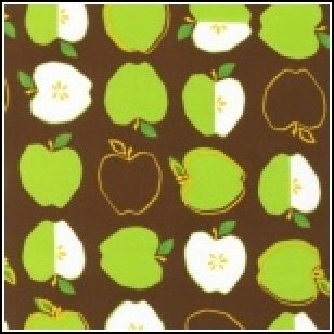 Monaluna METRO MARKET Fabric - Apples Brown