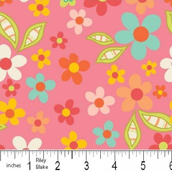 Riley Blake SWEET NOTHINGS Fabric - Floral Pink