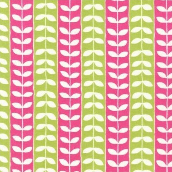 Sale - Monaluna - MINGLE - Leaf Stripe Pink/Lime