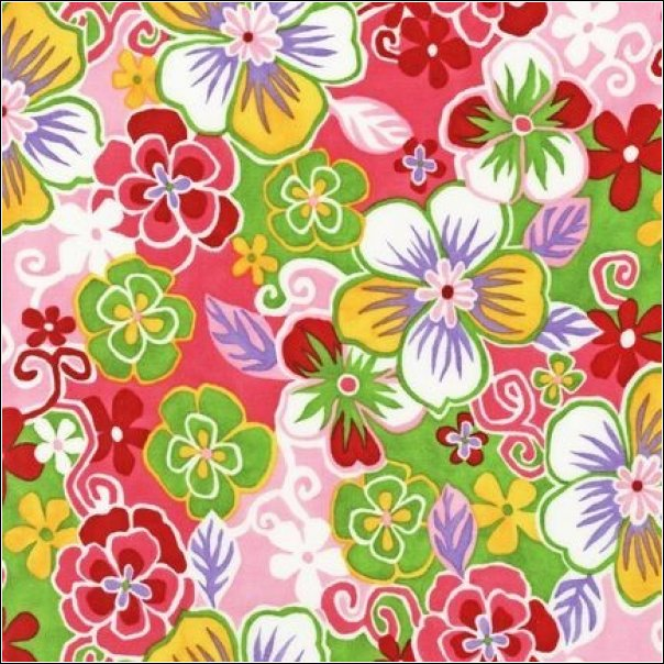 Robert Kaufman - OVER THE RAINBOW - Hawaiian Blossom Pink