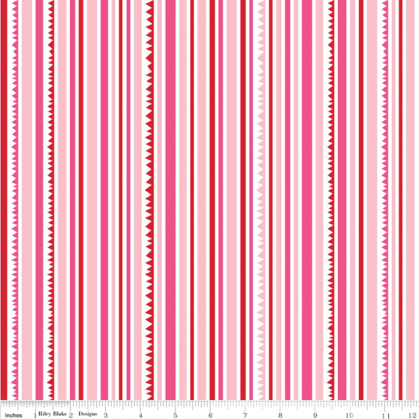 Riley Blake Sunny Happy Skies Fabric Sunny Stripes Pink