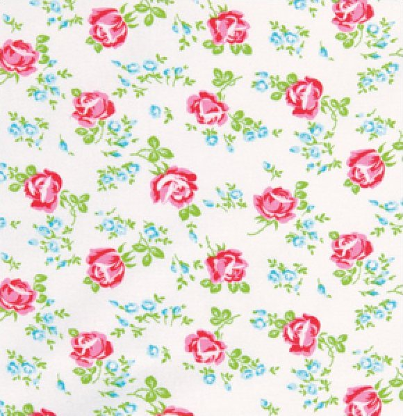 Tanya Whelan Fabric Sugar Hill Scattered Roses White
