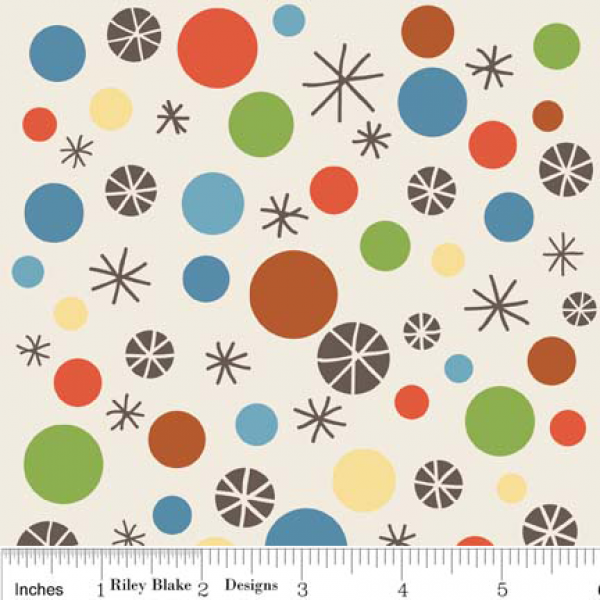 Riley Blake Designs Scoot Play Dots Cream