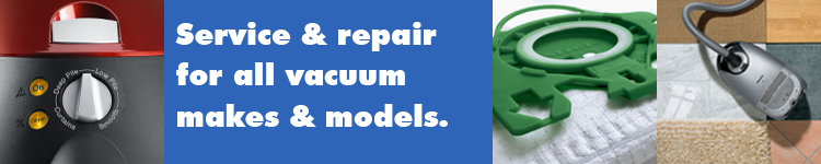 Service and repair for all makes and models of vacuum cleaners at A Common Thread, Portland, Oregon