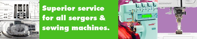 Superior service and repair for all sewing machine and serger makes and models at A Common Thread, Portland, Oregon