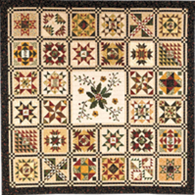"""- """"The Quilted Crow Quilt Shop, folk art quilt fabric"""