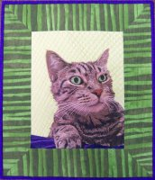 Thread painting of my cat, Frankie 2012