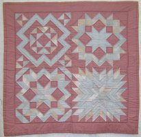 "Julie's first quilt ""Star Sampler"" 1991"